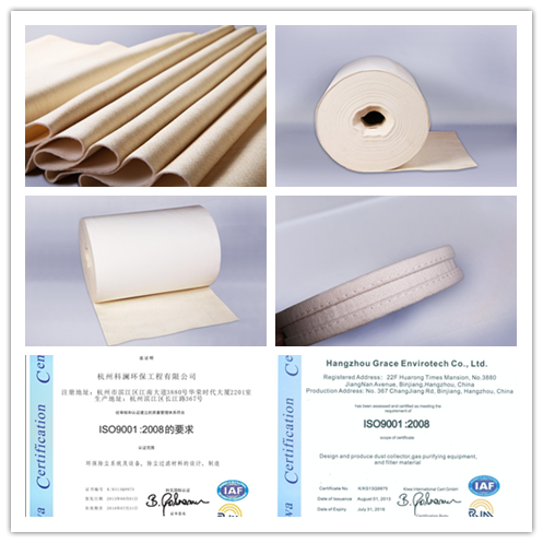 Polyester Needle Felt Dust Collector Filter Bags For Carbon Black Industry