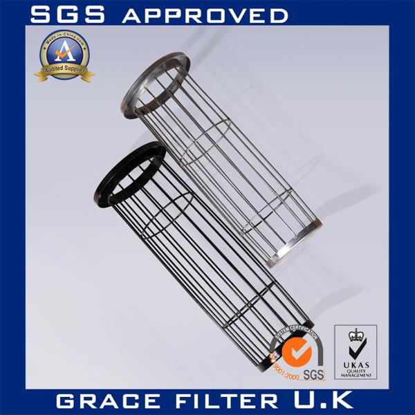 Galvanized / Silicon Industrial Dust Collector Filter Bags Cage Bag Filter Cage