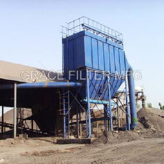 China Pulse Jet Bag Filter Dust Collector Equipment Low Emission For Asphalt Mixing Site supplier