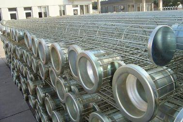 China Spray coating Carbon / SS Filter Bag Cage In Industrial Filtration Equipment supplier