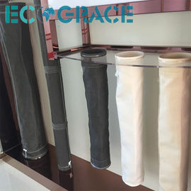 China Fiberglass  Dust Collector Filter Bags Stainless steel Rings PTFE membrane supplier