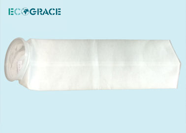China 100 micron Polyester Felt Filter Bag / Mesh Filter Bag 7'' x 32'' supplier