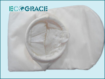 China 200 Micron Polyester Felt Liquid Industrial Filter Bags Plastic Ring / Galvanized Steel Ring supplier