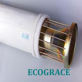 China Mild / Stainless Steel Filter Bag Cage With 12 / 16 Wires , Silicon Coating distributor